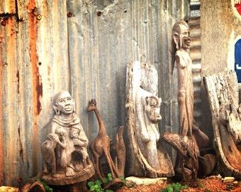 Kenya Photography - Kenya Art - Kenya decor - Kenya print - Woodwork print - Wood print - Wood decor - Wall Art - Statue print -Statue Photo