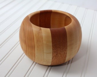 Segmented Bowl Maple, Cherry and Mahogany