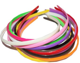 3 Pieces Blank Plastic Headband - Choose Your Color - Hair Accessory Supplies - DIY - Create Your Own Accessories