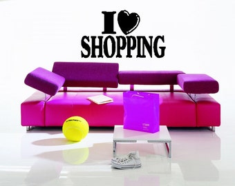 Shopping Mall Fashion Style Trends Fancy Dress Clothing Accessories Makeup Wall Sticker Decal 3358