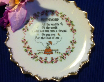 Vintage Friendship Decorative Wall Plate