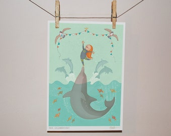 Sea Celebration - Children's Illustration Print
