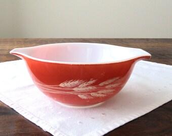 Kitchen Decor | Pyrex | Cinderella Bowl | Pyrex Autumn Harvest 442 | Retro Kitchen | Milk Glass | Mixing Bowl