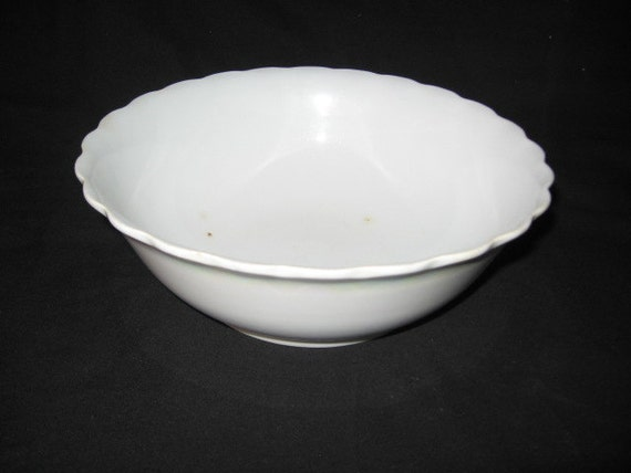 Homer Laughlin White Stoneware Large Kitchen Bowl Homer
