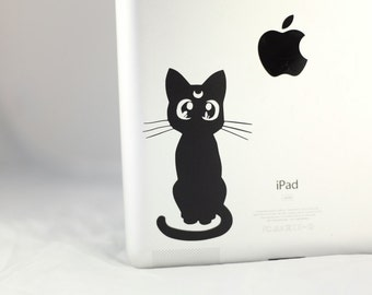 Luna Decal Cat -  Sailor Moon Stickers Macbook Pro Decal, Vinyl for iPad or Car