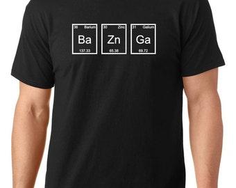 Bazinga T-shirt, big bang theory t shirt, Periodic table t shirt, chemistry t shirt, funny t shirt, nerdy t shirt, TEEddictive