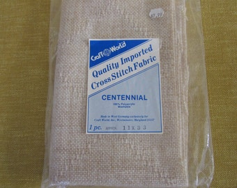 "Centennial 14 ct., 11""x33"" cross stitch fabric ,wheat color,100% polyacrylic,embroidery"
