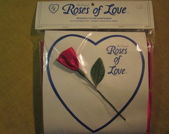 Roses of Love, wedding favor kit, 50 make yourself roses,red,made in Goldsboro NC