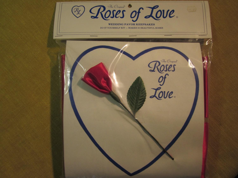 Roses Of Love Wedding Favor Kit 50 Make Yourself