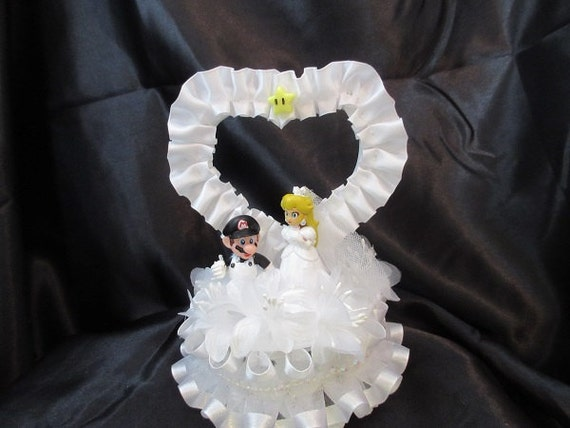 Princess Peach And Mario Wedding Cake Topper By 1topper On Etsy