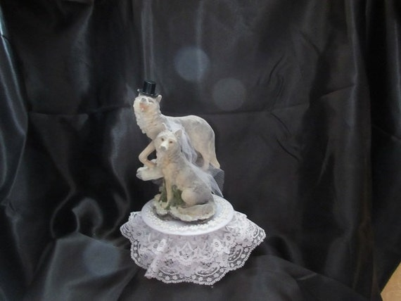 Wolf Wedding Cake Topper by 1topper on Etsy