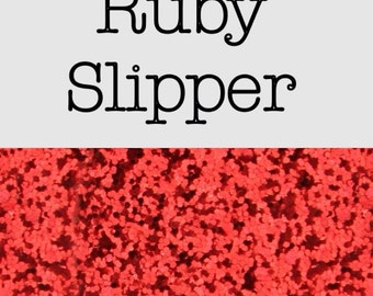 Chunky smooth glitter fabric A3 red
