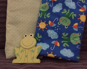Handmade baby burp cloths. These super absorbent burp cloths are made with soft baby flannel.