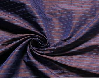 Fabric polyester cotton purple stripes blue curtain across stripes