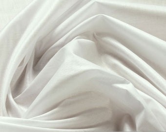 Fabric pure cotton batiste white airy light transparent