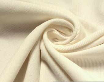 Fabric pure cotton corduroy wool white 1 mm