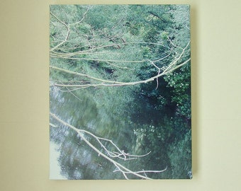 Photo Canvas/ Nature Photography/ Wall Art. Title -'River Reflections' by Jessie Jones