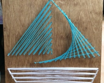 Turquoise String Sailboat