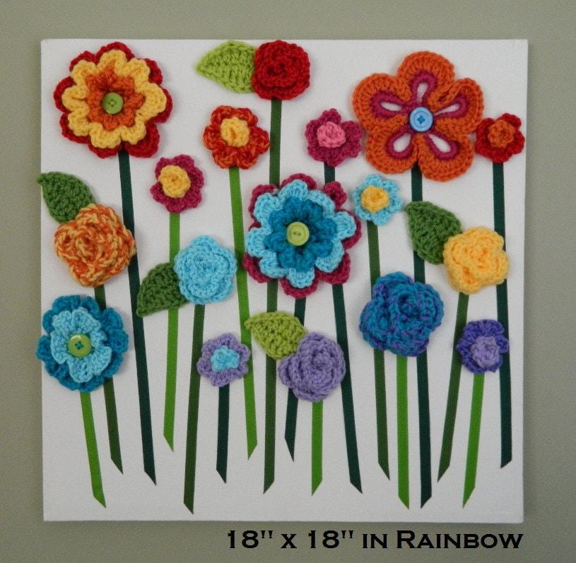 Diy Baby Nursery Floral Wall Decor: Flower Wall Hanging 3D Flower Wall Art Baby Girl Nursery