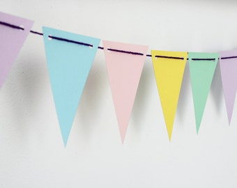 Garland pastel flags with holes