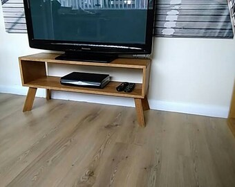 Hand crafted , Solid oak , retro tv unit/stand
