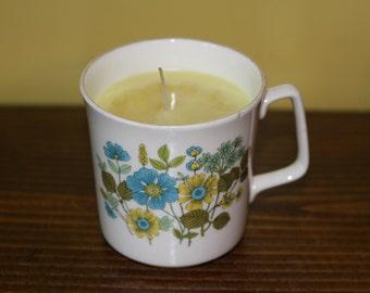 Unique Soy Candle in Antique Mug