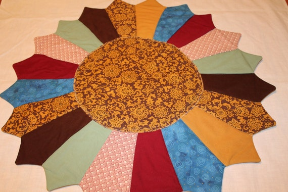 Table centerpiece quilted topper or mat by kimsbizzybees