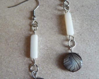 Shell and mother of pearl earrings