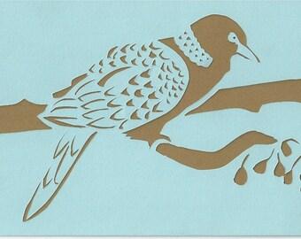 Original Papercutting: Turtle Dove