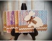 Spring Card Set - Easter, Bunny, Rabbit - Set of 5 with envelopes