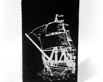 "Ghost Ship Moleskine Notebook (3.5"" x5.5"")"