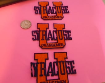 Lot of 3 Syracuse University embroidered patches  glue or sew in