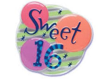 Sweet 16 Cake Decoration