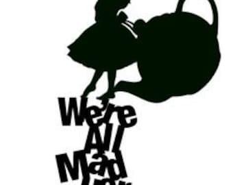 Alice in Wonderland Decal Sticker