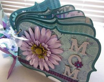 Love Mom Scrapbook Album, Premade Album, Chipboard Album, Memory Book, Photo Album