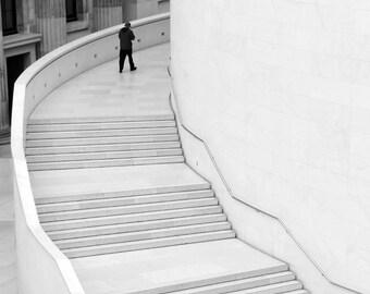minimalist art London photograph minimalist print wallart British Museum wall black white photography geometric home decor fine art