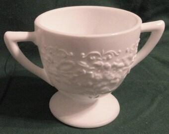 Indiana Glass Co. Milk Glass Sugar Bowl
