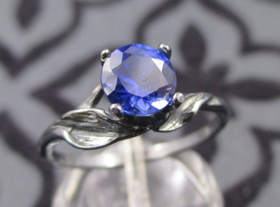 Blue and Black Engagement Ring Black Wedding by FineGothicJewelry