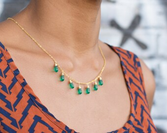 Seven Teardrop Necklace