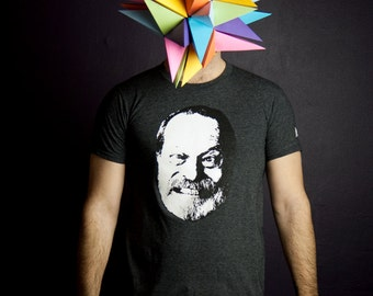 T-shirt Terry Gilliam glow in the dark Men Moustache Moutarde