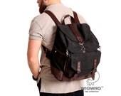 Mens canvas leather backpack, mens canvas bag, large canvas backpack, convertible canvas leather backpack, messenger bag, mens rucksack