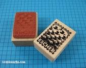 Escher Post Stamp / Postoid / Invoke Arts Collage Rubber Stamps