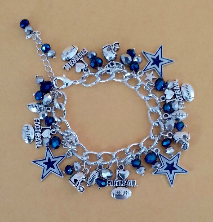 dallas cowboys charm bracelet kitchen dining 5301