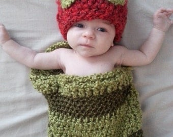 The Very Hungry Caterpillar crochet baby costume