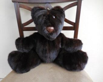 Genuine Mink Fur Teddy Bear