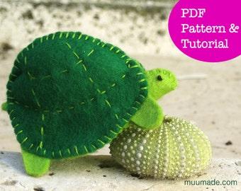 Turtle Tortoise Finger Puppet Sewing Pattern, Stuffed animal pattern, Felt toy, Gift for children toddler, Stocking stuffer, Handmade gift