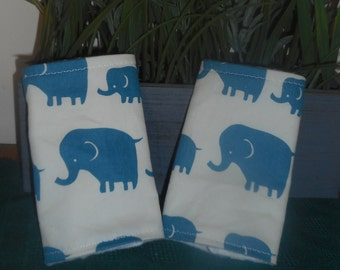 Teething Pads/Dribble/Drool Chew Pad For Baby Carriers/Ergo/Tula Elephants