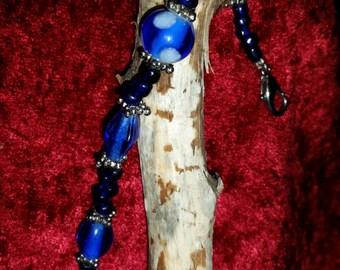 Gorgeus blue handmade beaded bracelet