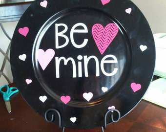 Valentine charger plate home decor