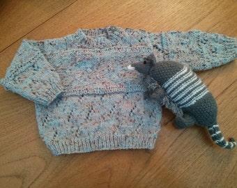 SALE - Pretty blue baby jumper 3 - 6 months. 24 inch chest.